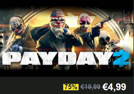 Payday 2 (PC) für 4,99 € bei Humblebundle.com, Springsale