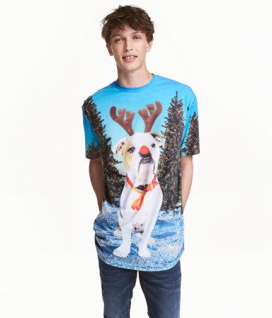 H&M Online T-Shirt mit Weihnachtsmotiv SALE