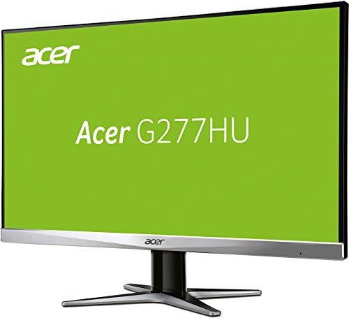 Acer Monitor G277HUsmidp, 27 Zoll, WQHD 2560x1440 Pixel @75Hz, DVI (DVI w/HDCP), HDMI, Displayport (v1.2), Lautsprecher (2x 2W) (Amazon)