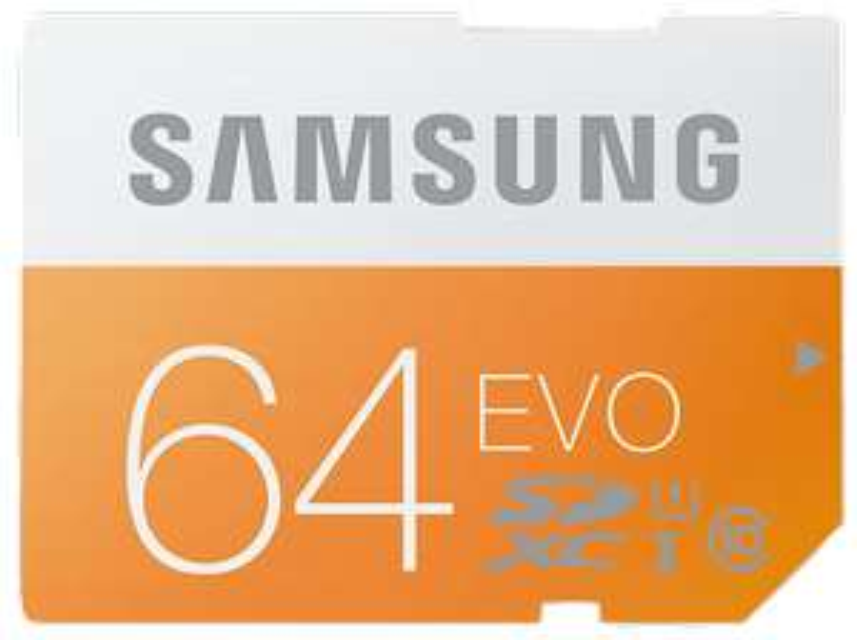 [Media Markt] Samsung Speicherkarte SDXC 64GB GB EVO UHS-I Grade 1 Class 10 für Foto und Video Kameras (bis zu 48MB/s Transfergeschwindigkeit)