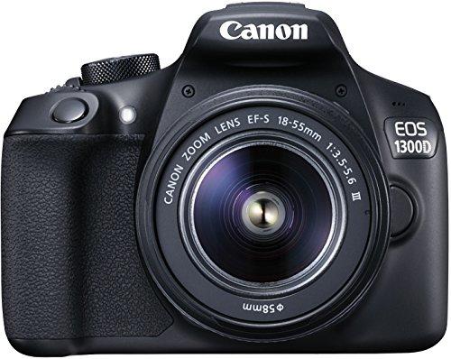 [Amazon] Canon EOS 1300D Digitale Spiegelreflexkamera (18 Megapixel, APS-C CMOS-Sensor, Wireless Lan mit NFC, Full-HD )  + 18-55MM DFIN (f/3.5-5.6) für DSLR-Einsteiger + 25€ Cashback