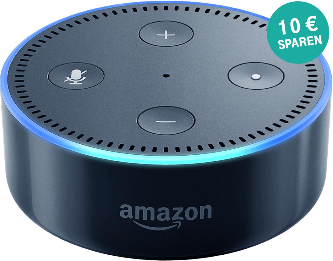 Amazon Echo Dot für 39,99 und Echo für 143,99 €