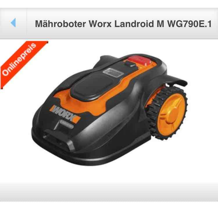 Mähroboter Worx Landroid M WG790E.1 heute für 593,35€ bei Clas Ohlson