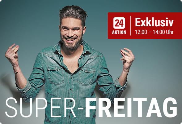 SUPER-FREITAG: 5 EUR Rabatt bei 9,50 EUR MBW (12:00-14:15 Uhr auch für Bestandskunden) [Tipp24]