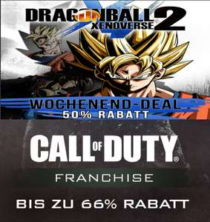 DRAGON BALL XENOVERSE 2 (PC) 24,99 €, ältere Call of Duty - Teile bis zu 66% reduziert! [Steam]