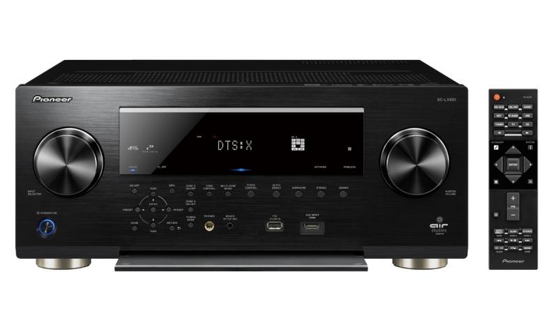 Pioneer SC-LX 801 und 901 (AV-Receiver) in schwarz mit Audioblock CR-20 (Multimediaradio) als Beigabe