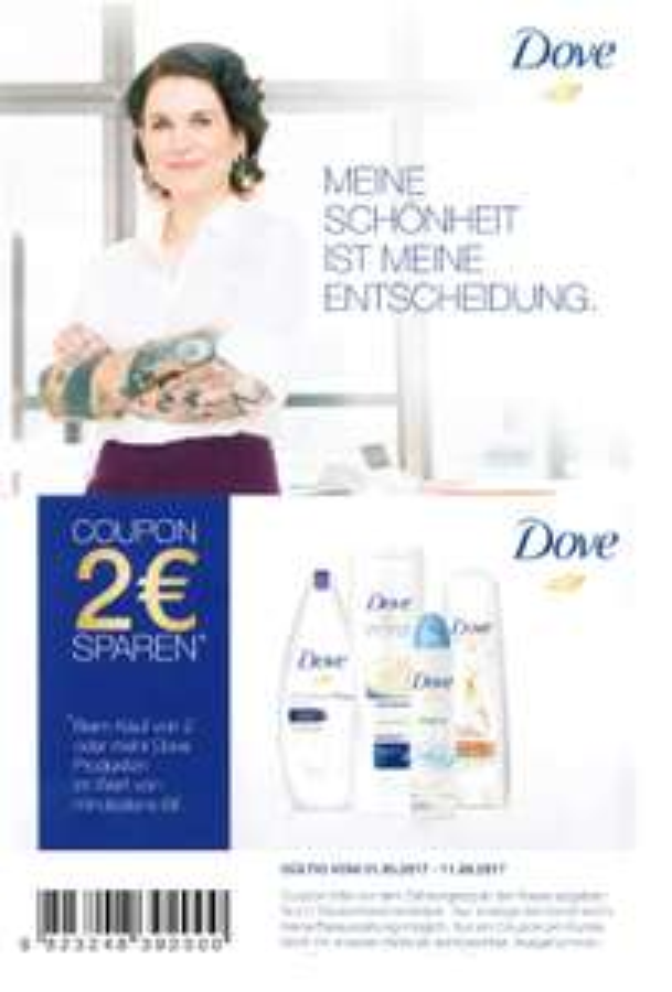 Neuer Dove -2,00€ ab 6,00€ Sofort-Rabatt-Coupon [Bundesweit]