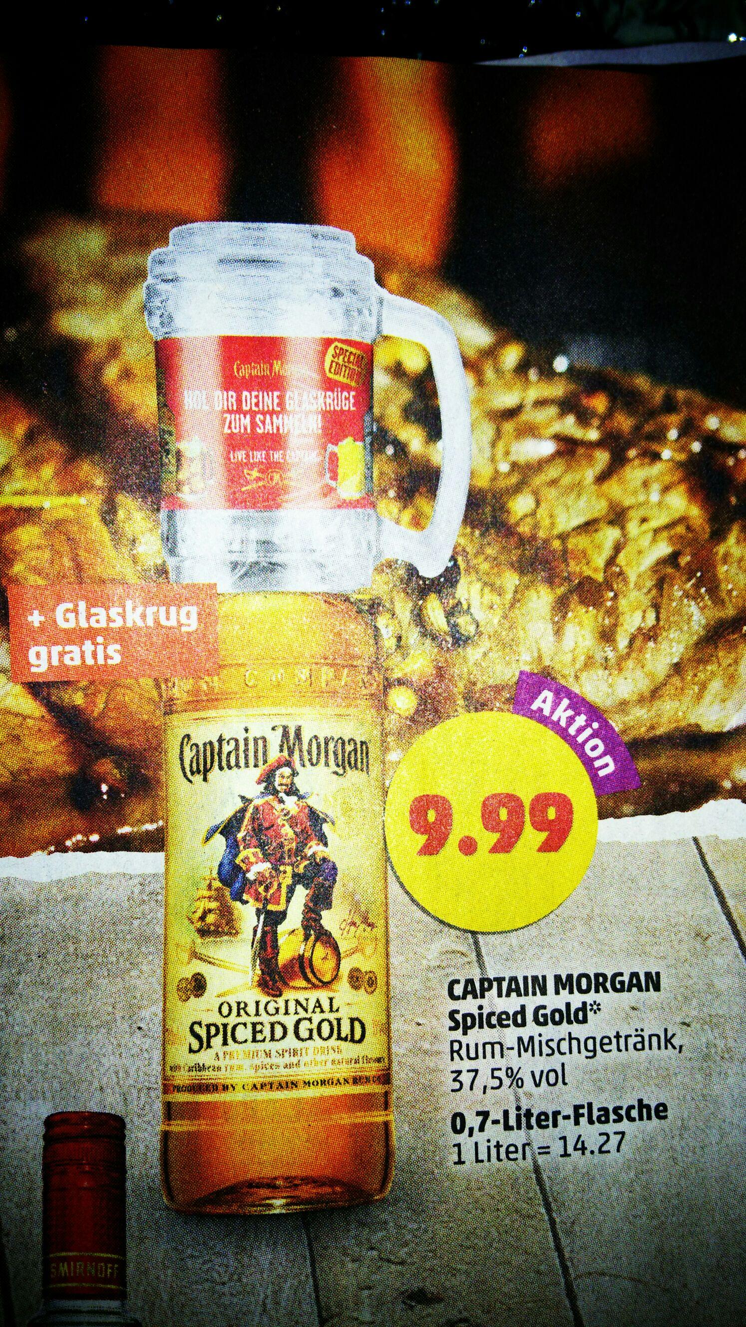 (Penny Markt) Captain Morgan + Glaskrug ab Montag den 22.5