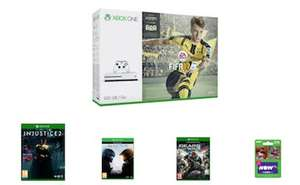 [Game.co.uk] Xbox One S 500GB + FIFA 17 + Halo 5 + Gears of War 4 + Injustice 2