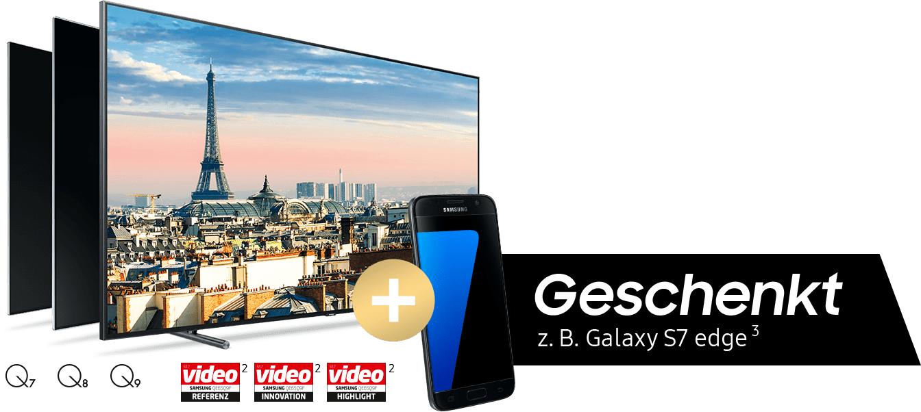 Samsung-Aktion: Gratis Galaxy S7 / S7 Edge bei Kauf eines QLED-Fernsehers