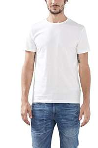 [Amazon Prime] ESPRIT Herren T-Shirt 2er Pack, weiß, M-XL, Slim Fit, 100% Baumwolle