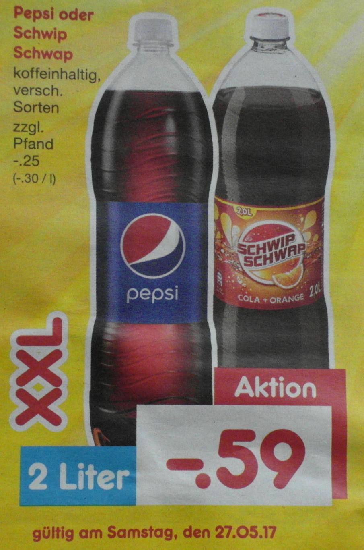 [Netto] Pepsi oder Schwip Schwap, XXL versch. Sorten, 2 Liter für 0,59 Euro