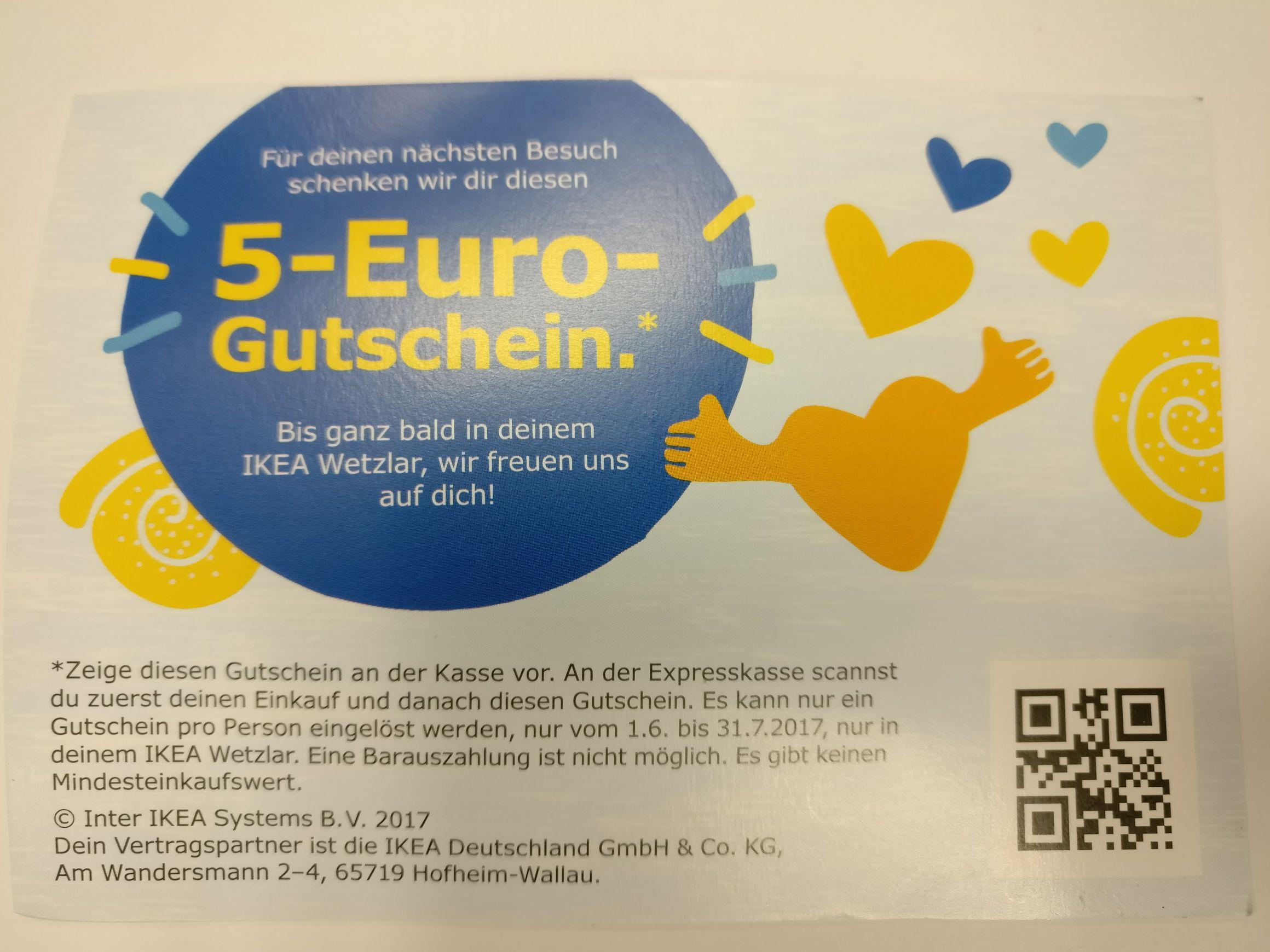 Ikea Wetzlar: 5€ Gutschein (Ab 01.06.)