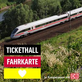 Tickethall DB Ticket wieder für 39€, mit Gutschein 29€ (siehe Beschreibung für Gutschein)