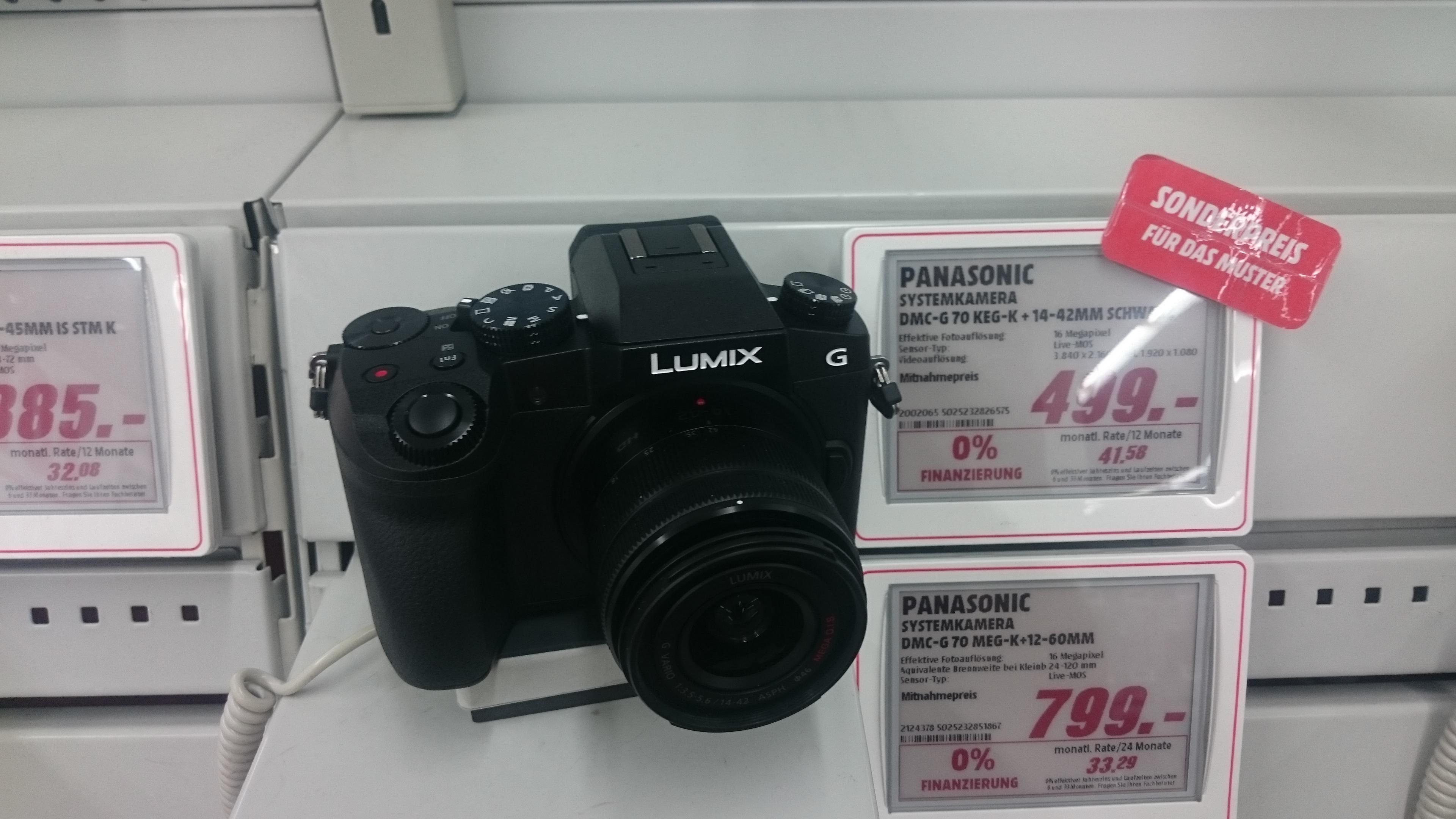 [Mediamarkt Landshut] Panasonic Lumix G70 im Kit mit 14-42 II