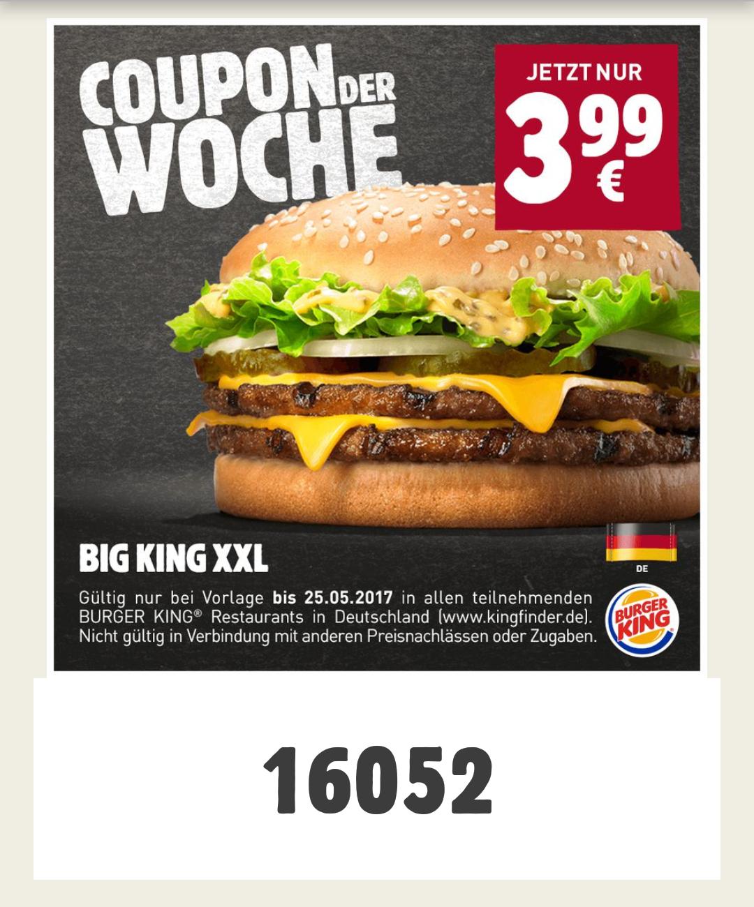 [Burger King] Big King XXL (PLU: 16052)