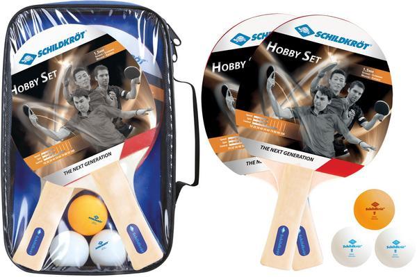 [Thalia] Donic-Schildkröt Tischtennis Set für 2 Spieler, 2 Schläger, 3 Bälle in Tasche + Kinderbuch