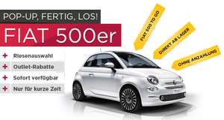 [Fiat König Berlin] Fiat 500 Leasing für 88,-€/Monat