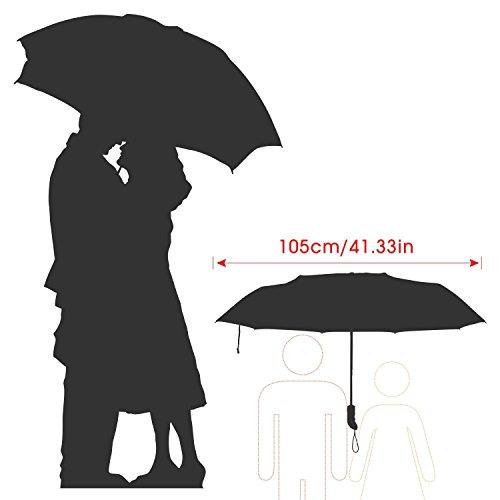 [Amazon.de] (Blitzdeal) Oxa Automatischer extra großer, faltbarer Regenschirm mit 105 cm Durchmesser, lebenslange Garantie