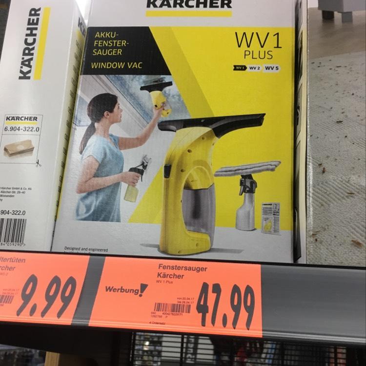 Kärcher Fenstersauger WV 1 Plus (Kaufland - Lokal Regensburg)