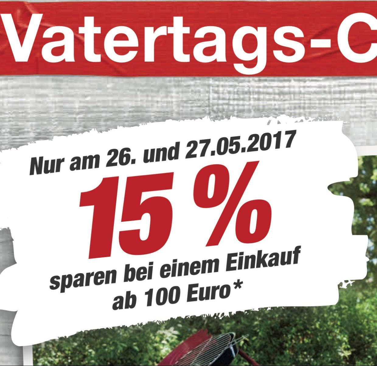 15% auf einen Einkauf bei Toom ab 100€