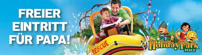 Kostenloses Vatertags-Ticket für den Holiday Park (beim Kauf von einem weiteren Ticket = 2 für 1)