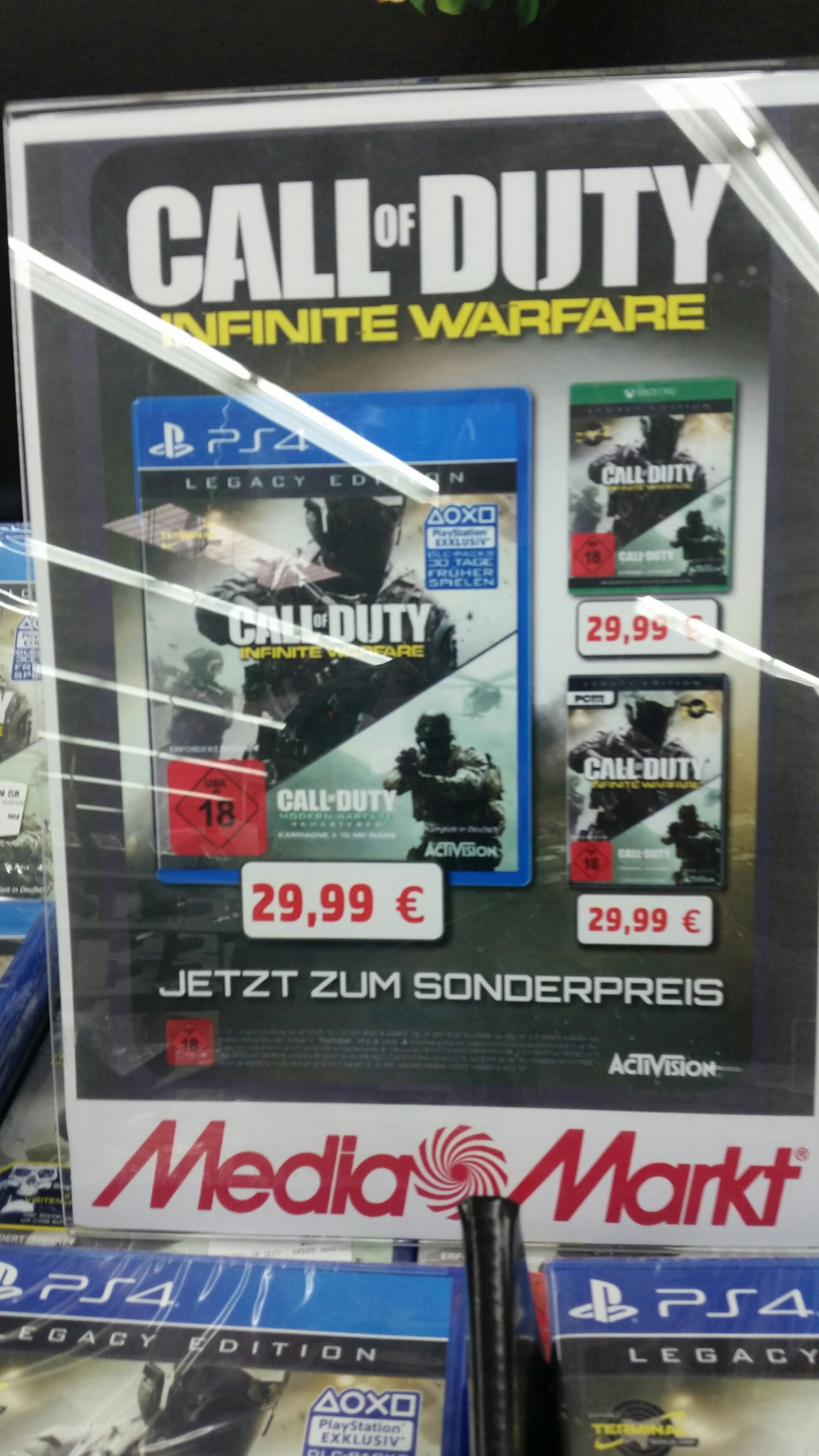 [Lokal Mediamarkt Porta Westfalica] Call of Duty: Infinite Warfare Legacy Edition (PS4 und XB 1) für je 29.99€