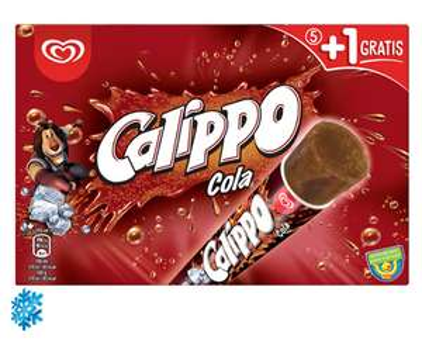 Langnese Calippo Cola 5+1 gratis (6x105ml) für 1,85€ [Aldi Nord & Süd am 02. und 03.06.]