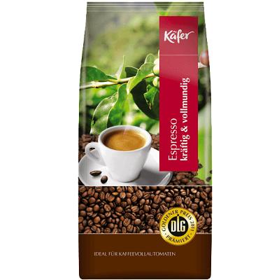 1kg Käfer CaffeEspresso kräftig & vollmundig Bohnen für 7,99€