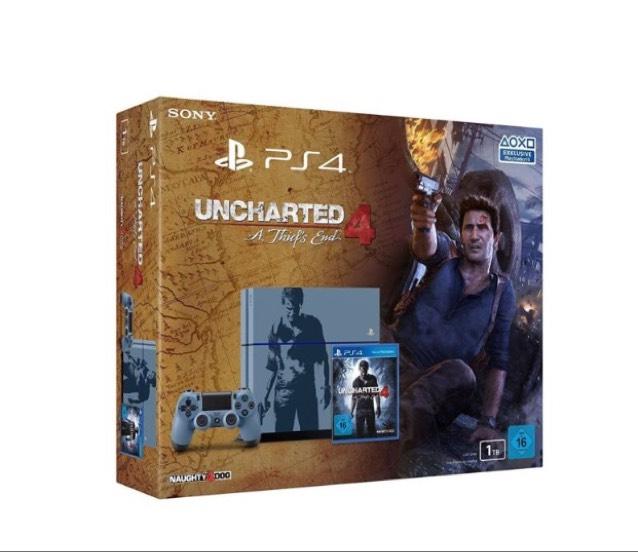 Sony PlayStation 4 - 1TB CUH-1216B Uncharted 4 Limited Edition inkl Spiel