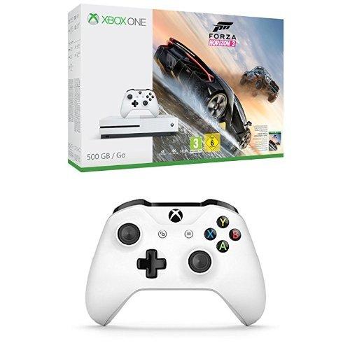 Xbox One S + Forza Horizon 3 + 2. Controller für 235,42€ [Amazon.fr]