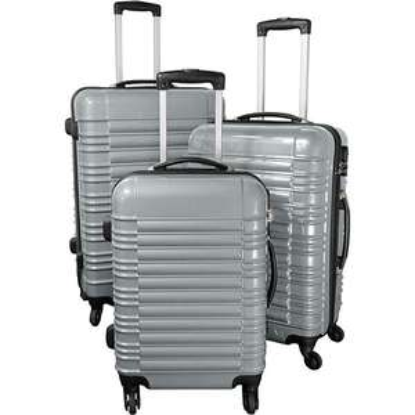 Polycarbonat-ABS-Kofferset 3-teilig, silber