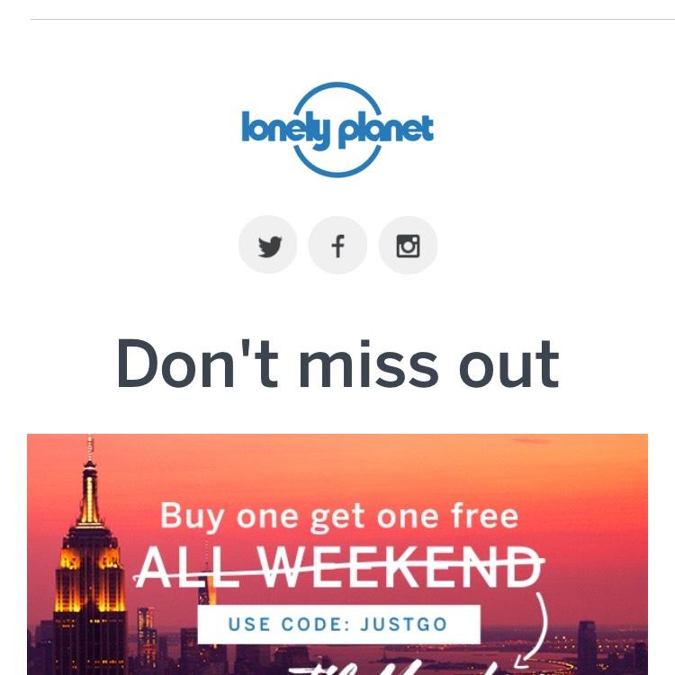 Lonely Planet Reiseführer 2 für 1