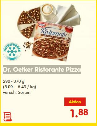 [NETTO]  Dr. Oetker Ristorante Pizza auch Dolce al Cioccolato / gültig von Montag, 22.05.17 - Samstag, 27.05.17