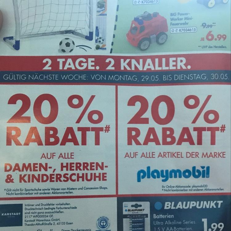 [Karstadt Lokal/Online] -20% auf Playmobil