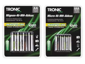 "[Lidl] TRONIC® ""Ready to use"" -NimH-Akkus - ab 29.05."