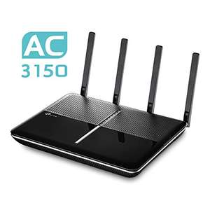 Tagesdeal Amazon - TP-Link AC3150 Gigabit Dualband WLAN Gaming Router Archer C3150(für Anschluss an Kabel/DSL/GlasfaserModem, 1000 Mbit/s(2,4GHz)+2167 Mbit/s(5GHz), MU-MIMO, Beamforming, App Steuerung, VPN, USB 3.0)