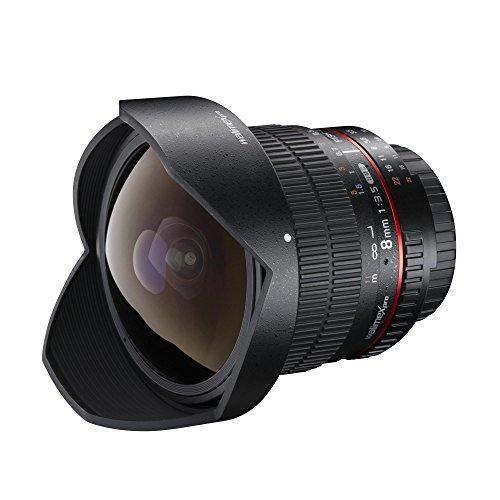 Walimex Pro 8mm 1:3,5 DSLR Fish-Eye II Objektiv (auch 14mm - siehe Text)