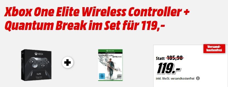 Xbox One Elite Controller und Quantum Break für 111€