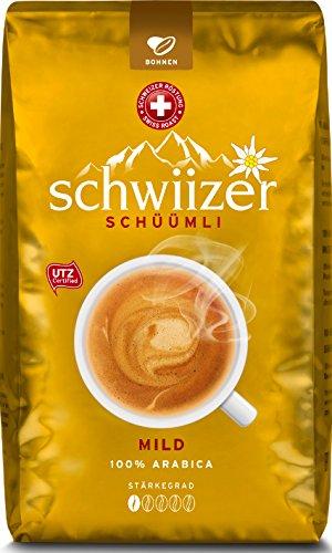 [Amazon] Kaffee: Schwiizer Schüümli Mild 1 Kg ganze Bohnen und andere Sorten