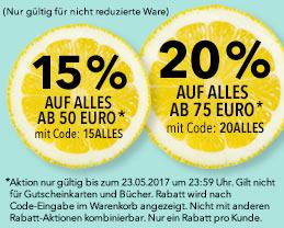 15% / 20% Rabatt bei Douglas ab 50€ / 75€ bis 23.05.2017 23.59Uhr