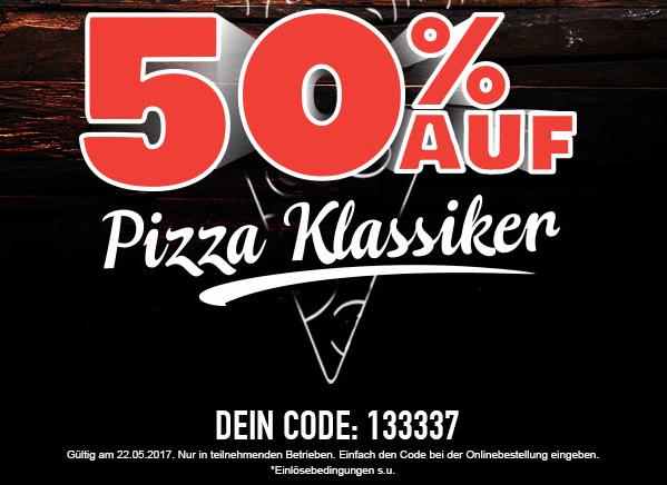 [Dominos] Wieder 50% auf Pizza Klassiker