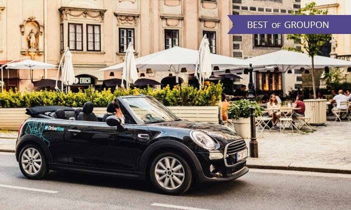 Carsharing von DriveNow inkl. Anmeldegebühr und bis zu 180 Freiminuten ab 9,-Euro über GROUPON.DE