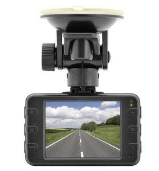[Egsat] ednet 87231 Dash Cam Kfz-Kamera (3 Megapixel, 720p HD, 70° Weitwinkel-Linse, 6,1 cm (2,4 Zoll) TFT-Display, Speicherkartenslot)