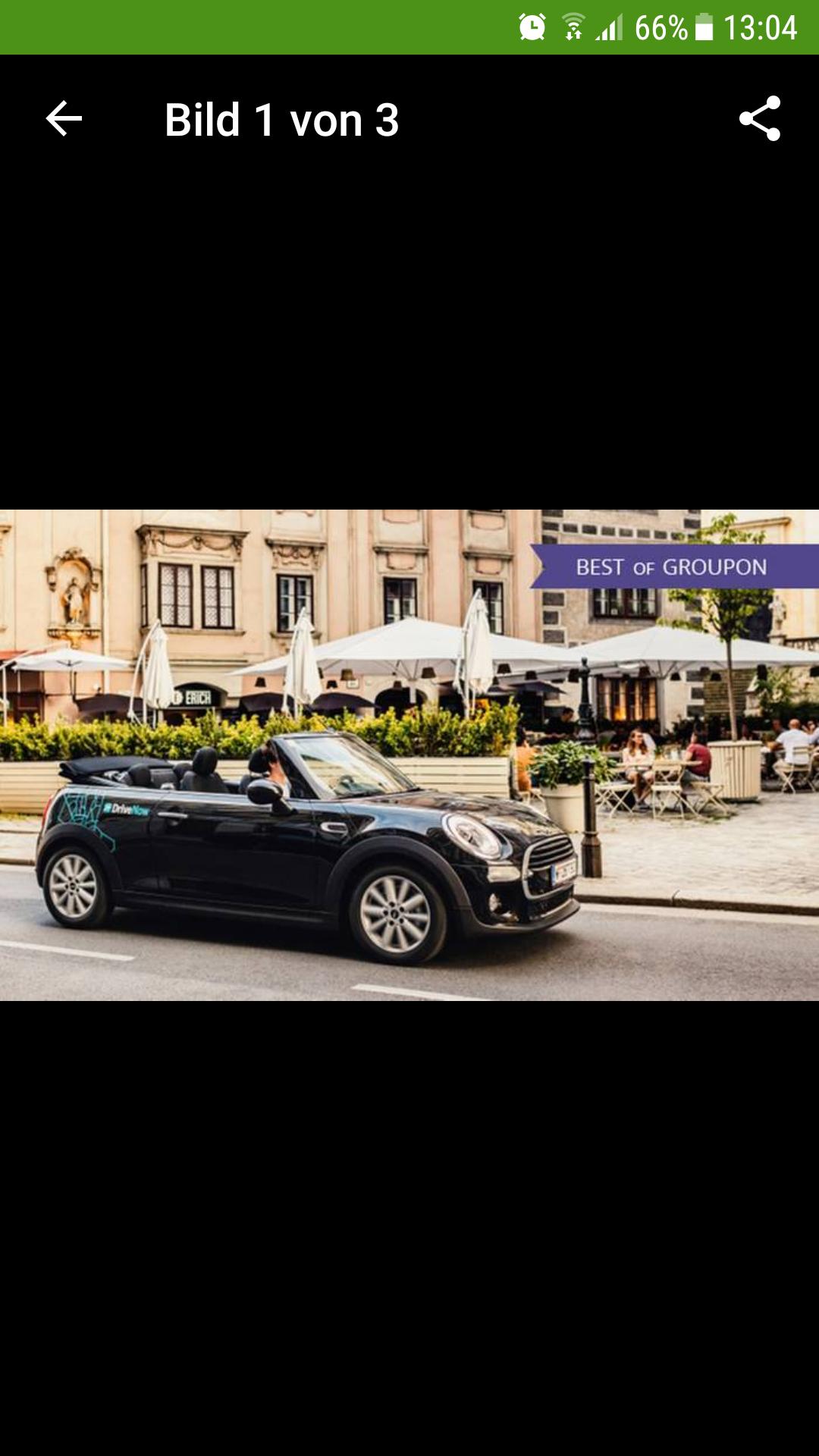 DriveNow-Anmeldung (Car-Sharing) inkl. 60 Fahrminuten für nur 7,20€