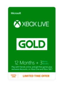 15 Monate Xbox Live Gold für 31,21€ bei Game.co.uk