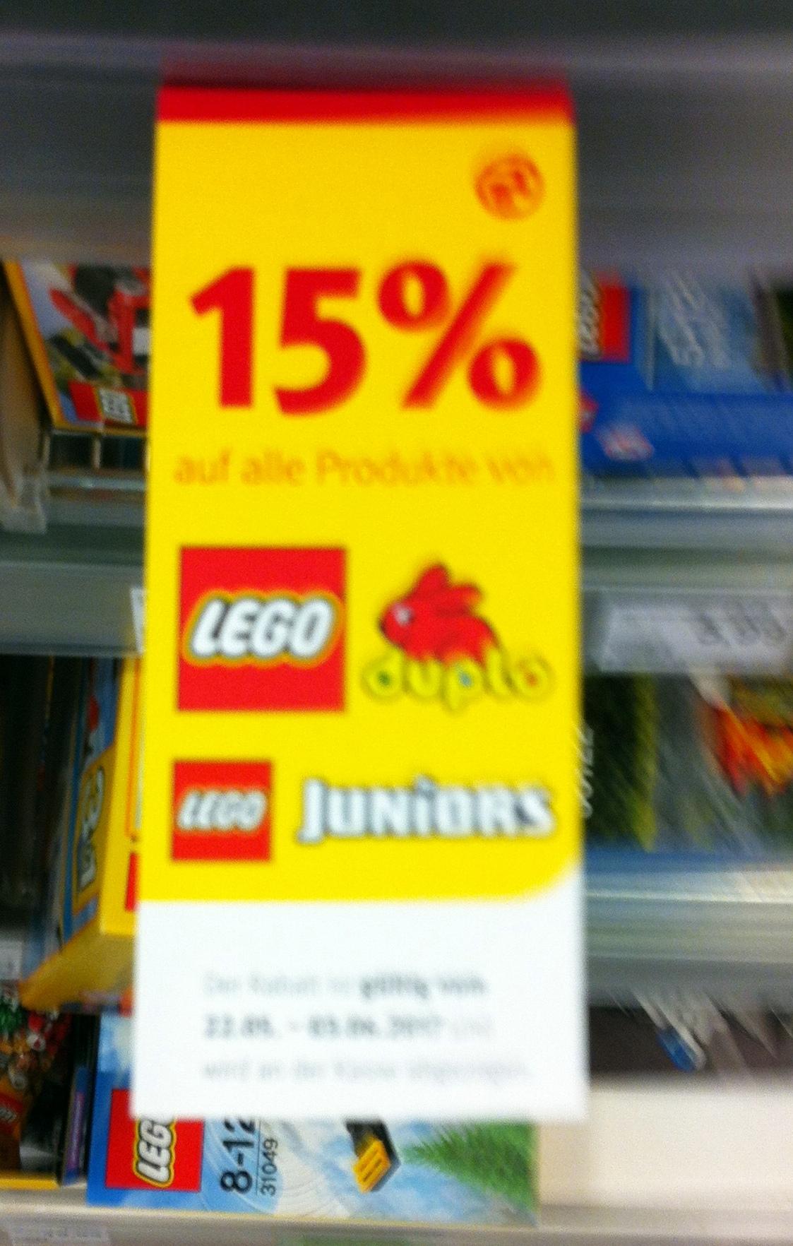 [Rossmann] 15% Rabatt auf Lego Duplo und Lego Junior (22.05-03.06.)