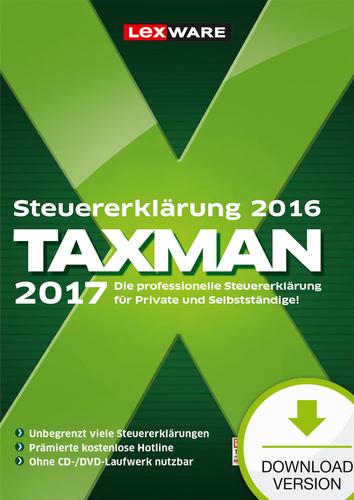 Taxman 2017 von Lexware für 13,99€