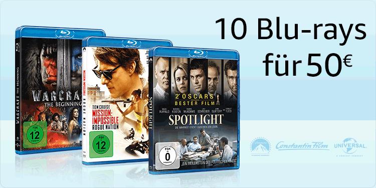 Amazon.de 10 Blu-rays für 50€ z.B, Star Trek, Central Intelligence - Extended Edition, Ride Along 2 - Next Level Miami, Kubo - Der tapfere Samurai, Vor ihren Augen uvm. (22.05.-28.05.2017)