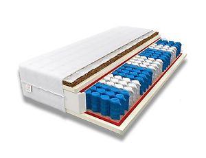 Taschenfederkernmatratze 90x200 24 cm hoch, 550 Federn, 2 Härtegrade H3/H4